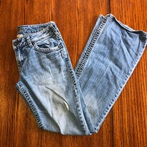 Distressed SILVER AIKO bootcut Jeans 28/33